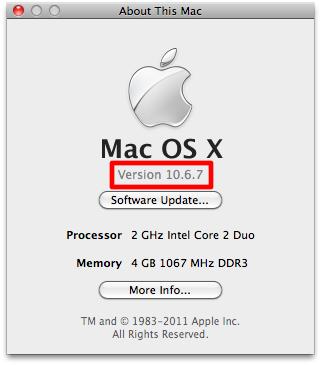 Mac OS X v.10.6.7 (10j868)