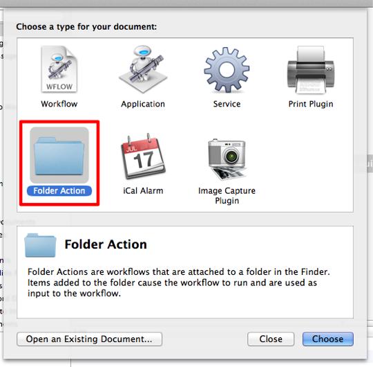 sihirli elma automator 5 folder action 1 Automator nedir? Nasıl kullanılır?