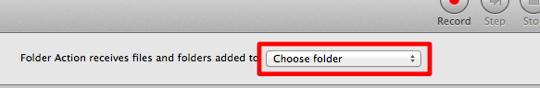 sihirli elma automator 6 choose folder 1 Automator nedir? Nasıl kullanılır?