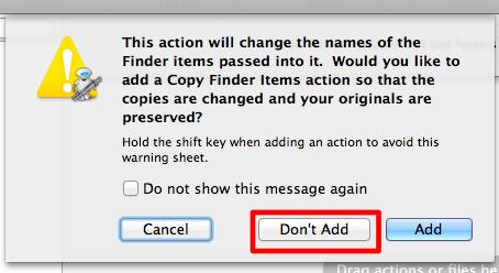 sihirli elma automator 8 copy finder items 1 Automator nedir? Nasıl kullanılır?