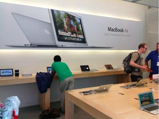 Sihirli elma apple store deneyimi macbook air