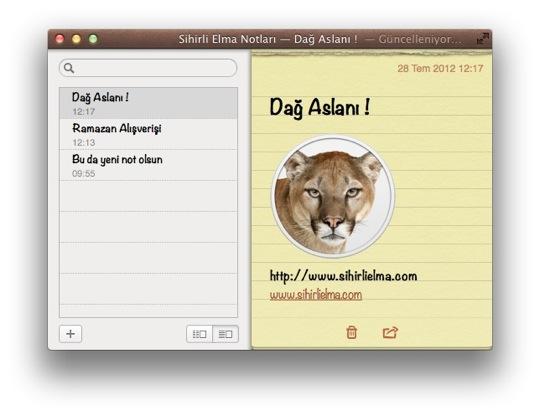 Sihirli elma mountain lion notlar animsaticilar bildirim merkezi 9