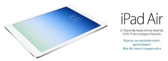 sihirli elma ipad mini satista turkiye 6 iPad mini ve iPad Air 27 Kasımda Türkiyede!