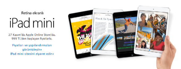 sihirli elma ipad mini satista turkiye 7 iPad mini ve iPad Air 27 Kasımda Türkiyede!